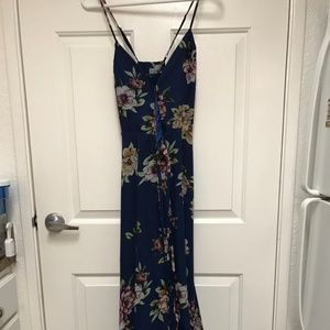 Lulus Floral Wrap Dress